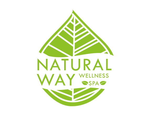 Spa wellness logo  Natural Way Wellness Spa | Gabriela Fleming - Graphic Designer